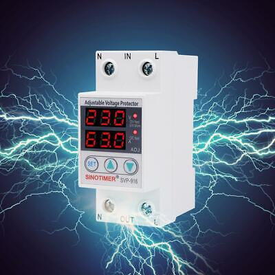 SVP-916 Adjustable Voltage Surge Reset Protector Relay Limit Current Protection