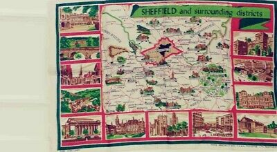 Sheffield and Surrounding Districts Tea Towel Unused