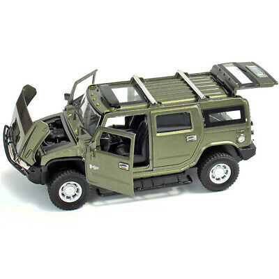 1:32 Scale Hummer H2 Off-road SUV Car Model Metal Diecast Toy Vehicle Green Gift