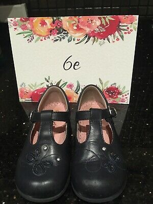 Startrite Butterfly Navy leather Shoes, infant Size 6e