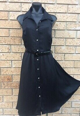 Vintage 90s Halter Dress Black Pure Silk 14 Day Or Evening Cocktail Party Dress