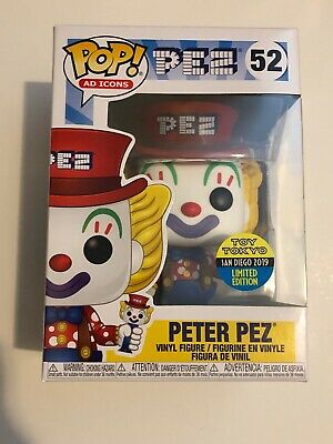 Funko Pop! Ad Icons Peter Pez 2019 SDCC Toy Tokyo Exclusive Sticker Rare