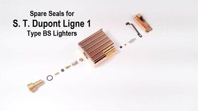 A O-rings/Seals for S. T. Dupont Ligne 1 BS lighters (spare parts, gas leak fix)