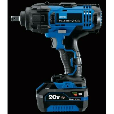 Storm Force 20V 4Ah 1/2 400Nm Impact Wrench 1x Battery & charger Draper 43785