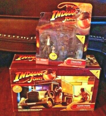 Indiana Jones Raiders of the Lost Ark CARGO TRUCK Harrison Ford TRAP figure LOT