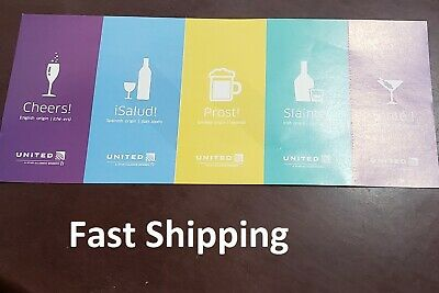 United Airlines Coupons Drink Voucher. Qty:5. Exp: Jan 31, 2021. Fast Shipping