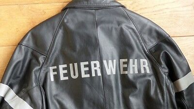veste cuir pompier allemand T28 (Obsolete) german fireman leather coat feuerwehr
