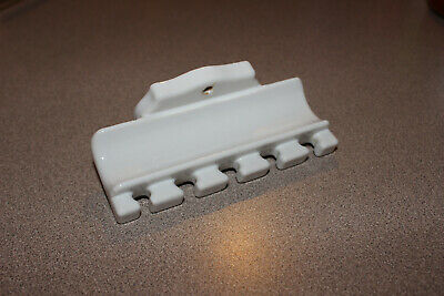 Vintage 1920-30's Porcelain Ceramic White Bathroom Fixture Toothbrush Holder