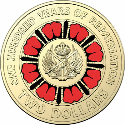2019 $2 Coloured Coin - Bringing Them Home - A Hundred Years of Repatriation