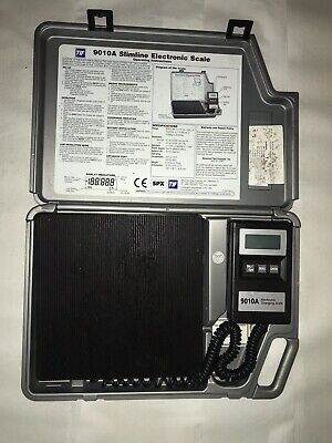 TIF 9010A Slimline Refrigerant Electronic Charging Scale w/ Case * Pre-owned*