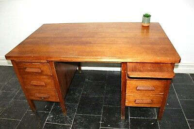 Vintage Oak Headmasters Desk