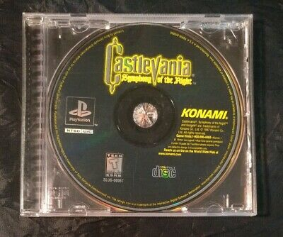 Castlevania Symphony of the Night  PlayStation PS1 PS2 PS3 Black Label No Manual