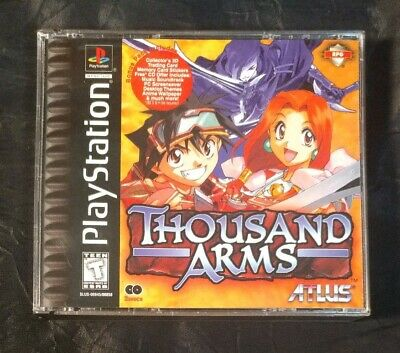 Thousand Arms Sony PlayStation 1 Ps1 PS2 PS3 RPG Hologram - Stickers - No manual