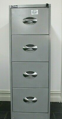 Excalibre 4 drawer silver filing cabinet