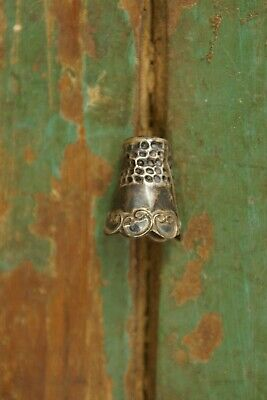 1940's - 1950's Sterling .925 Silver Thimble Mexico Signed Artist