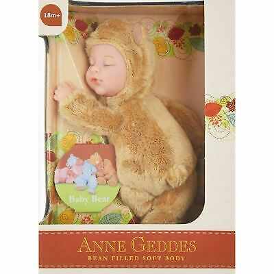 ANNE GEDDES 'Baby Bear' Filled Soft Doll Light Brown - New in Box