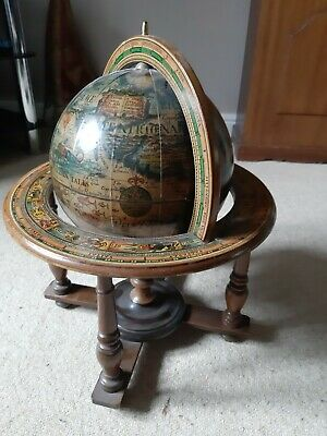 Antique vintage world globe