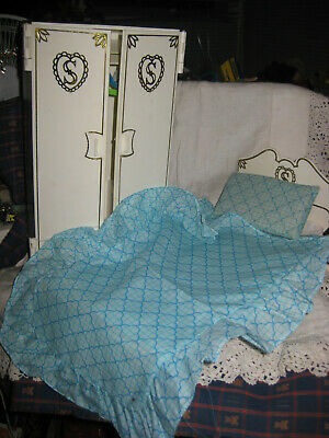 For Pedigree Sindy Doll- Bed With Bedding And Wardrobe