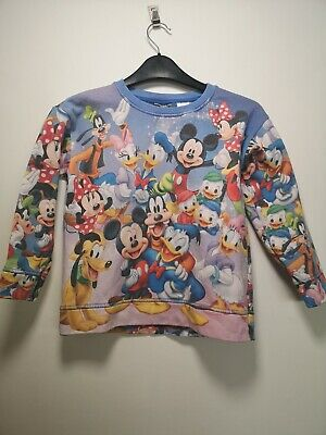 Next Disney Minnie / Mickey Mouse, Goofy, Donald Duck Jumper -Size 7 years (298)