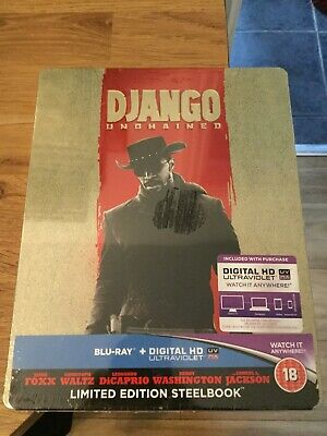 Django Unchained Limited Edition Blu Ray Steelbook(New/Sealed)