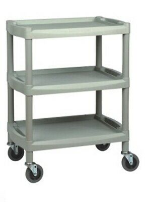 Three Shelf Durable ABS Therapy / Medical / Beauty Utility Trolley
