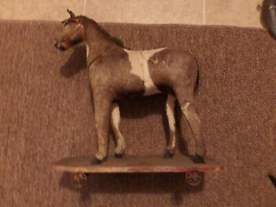 Very Nice 19th Century Horse Pull Toy - Exceptional Condition.