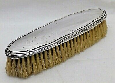 Antique Solid Sterling Silver Backed Clothes Brush B'Ham 1912