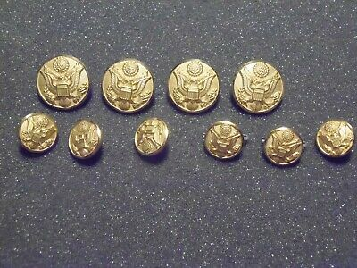 U.S. Army uniform buttons 4 large 6 small