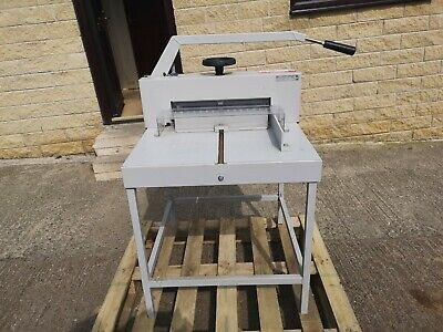 Ideal 4705 Guillotine complete with stand. No VAT