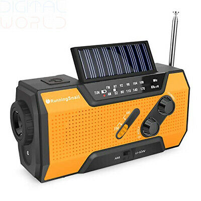 Wind Up Solar Radio,Dynamo Radio Emergency Hand Crank with Orange
