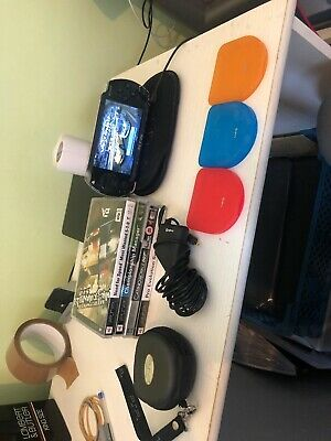 Sony Psp 1003 Playstation Portable Console Black + Games/UMD Joblot