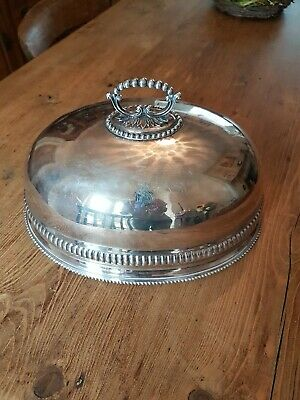 Antique Victorian  Large Silver Plated Meat Cover