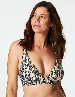Marks & Spencer 'Feather Print' Bikini Top - Various Sizes Available (15674)