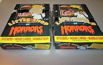 2 1986 Topps Little Shop of Horrors Full Wax Box Lot From a Sealed Case