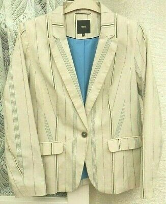 ( Ref 1652 ) Next Size 16 - Ladies Cream / Multi Lined Formal / Work Jacket/Coat