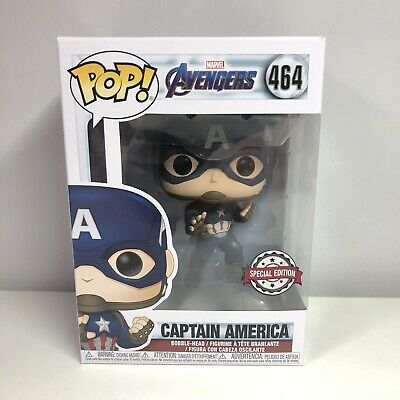 Marvel Avengers Endgame Captain America Special Edition Funko Pop #464 Exclusive