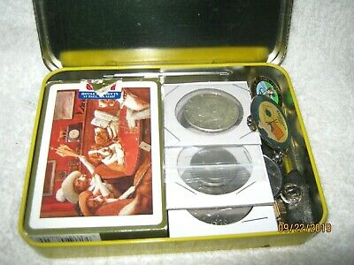 Junk Drawer Lot/Bic.Ike/Silver Coin/Tokens