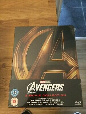Marvel Studios Avengers Trilogy Limited Edition Blu Ray Steelbook(New/Sealed)