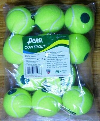 11 NEW Penn Control Plus Tennis Balls Polybag Slow Ball for Beginners Eleven