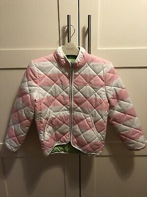 Ralph Lauren Girls Pink/white Coat/ Jacket Age 6 ( See Size Chart In Pics)