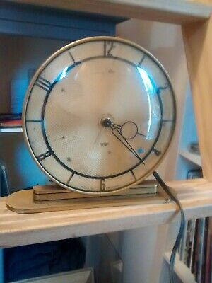 Vintage Art Deco Smiths Metal & Bakelite Electric Mantel Clock