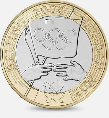 Olympic BEIJING 2008 LONDON 2012 Handover £2 Two Pound Coin Circulated