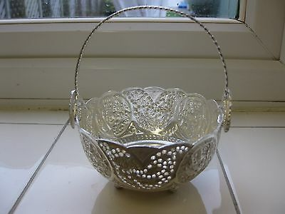 SOLID SILVER ISLAMIC MIDDLE EASTERN  PERSIAN BOWL WITH HANDLE  HALLMARK 157 g