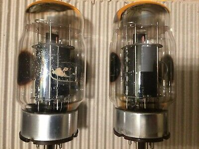 GEC KT88 Triple Ring Getter Matched Pair Valves / Tubes - FULLY TESTED