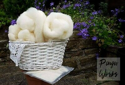Needle Felting Core wool 1kg Natural White Carded Wool 1st Class Post Included