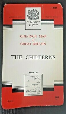 Ordnance Survey Seventh Series One-Inch Map Sheet No.159 THE CHILTERNS