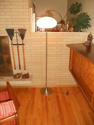 Mid century Bill Curry Laurel Tulip Mushroom shade floor lamp Stemlite era 1960s