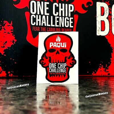 Paqui Limited Edition Skull Decal Sticker One Chip Challenge Carolina Reaper HOT
