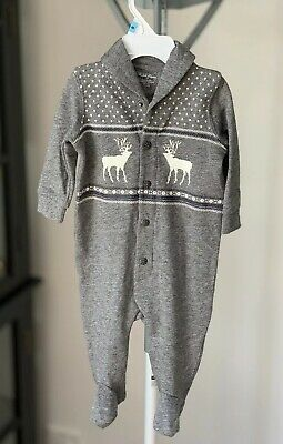 Ralph Lauren Baby Coverall Jumpsuit. Size 6mths - Grey