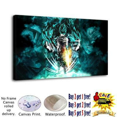 "Dragon Ball Z HD Canvas Print Painting Home Decor room Wall Art Picture 24""X44"""